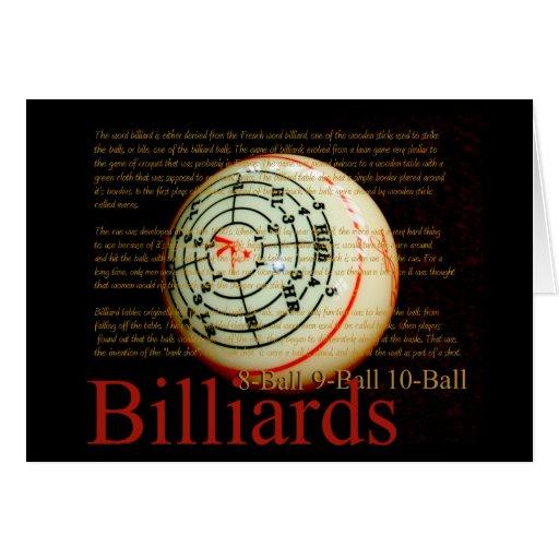Billards Tarjeta De Felicitación
