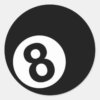 Billares - 8-Ball Etiquetas Redondas