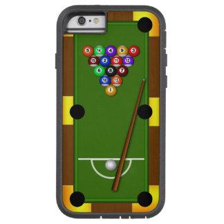 Billares 8 de la mesa de billar ocho caso del funda de iPhone 6 tough xtreme