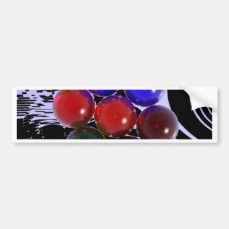 Billares abstractos 101 del estante etiqueta de parachoque