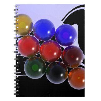 Billares abstractos 101 del estante libro de apuntes con espiral