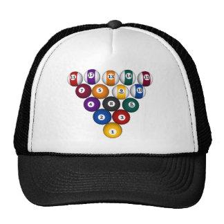 Billares/bolas de piscina - gorra de encargo del c