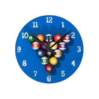 Billares/bolas de piscina: Reloj de pared