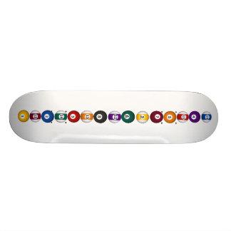 Billares/bolas de piscina verticales - monopatín tablas de skate