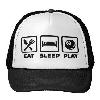 Billares de Eat Sleep Play Gorras