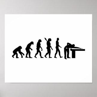 Billares de la evolución póster