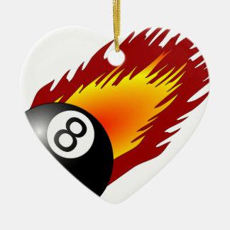 billares de la llama del equipo del juego de los adorno de cerámica en forma de corazón