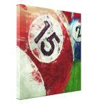 Billares del arte abstracto 15 2 impresiones en lienzo estiradas