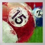 Billares del arte abstracto 15 2 poster