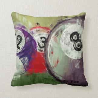 Billares del arte abstracto cojín decorativo