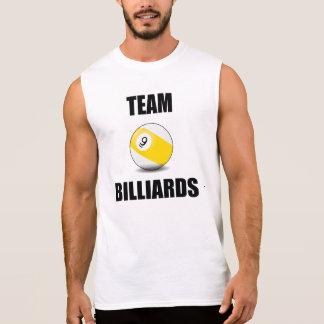 Billares del equipo (bola nueve) camisetas sin mangas