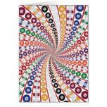 Billares/espiral de las bolas de piscina: tarjeta