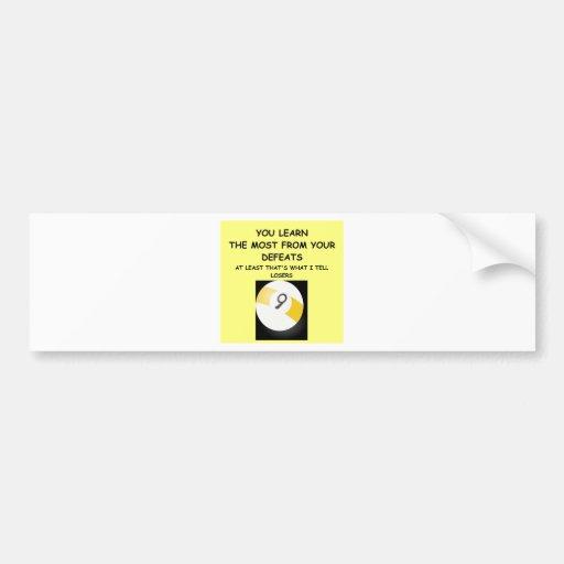billares etiqueta de parachoque