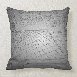 Billares geométricos blancos de la plata de la cojín decorativo