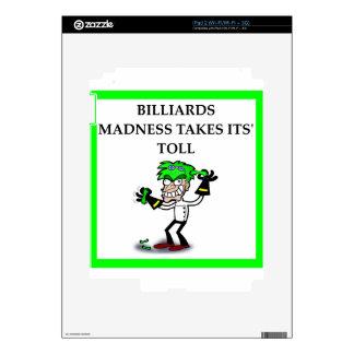 BILLARES iPad 2 CALCOMANÍA