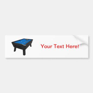 Billares/mesa de billar: Azul sentido: Pegatina Para Auto