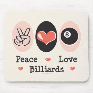 Billares Mousepad del amor de la paz Tapete De Ratones