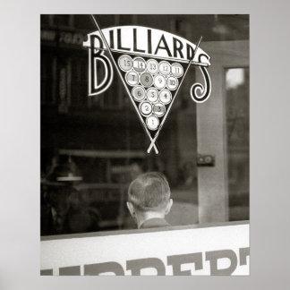 Billares pasillo, 1938 póster