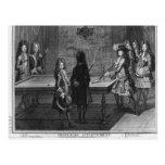 Billares que juegan de Louis XIV con su hermano Postal
