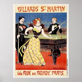 Billares St Martins París Impresiones
