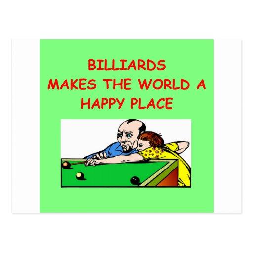 billares tarjeta postal