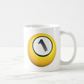 Billares una bola taza de café