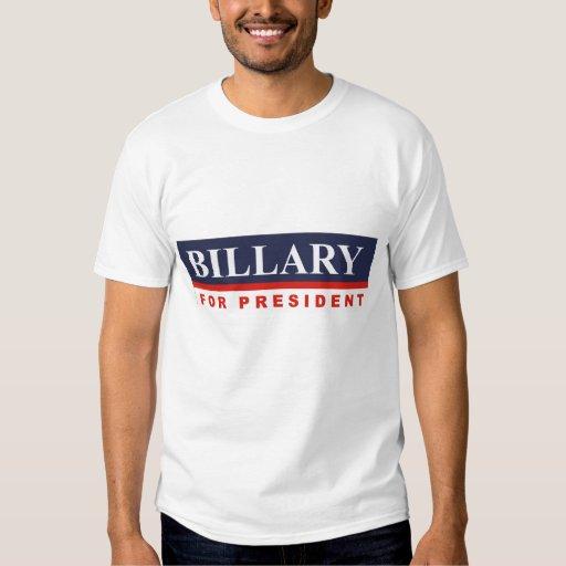 BILLARY FOR PRESIDENT T-SHIRTS