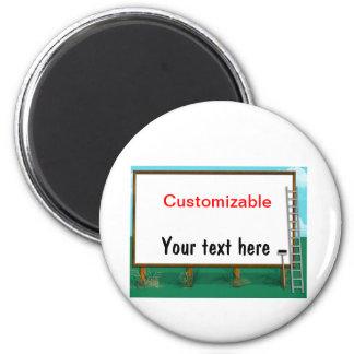 Billboard Greeting - Customizable 2 Inch Round Magnet