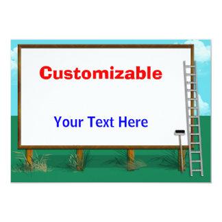 Billboard Greeting - Customizable, Blank Back Card