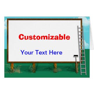 Billboard Greeting - Customizable Card