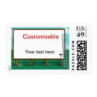 Billboard Greeting - Customizable Stamps