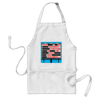 Billboard Trust Your Government Adult Apron