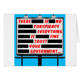 Billboard Trust Your Government Greeting Card