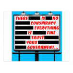 Billboard Trust Your Government Postcard