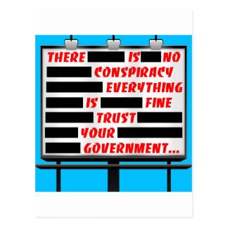 Billboard Trust Your Government Post Card