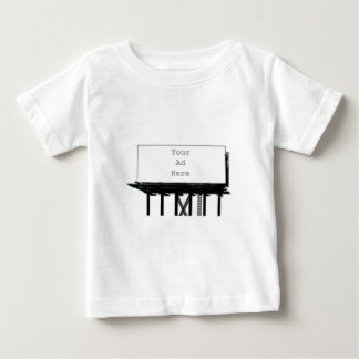 Billboard Your Ad Here gray The MUSEUM Zazzle Gift Baby T-Shirt