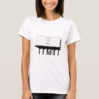 Billboard Your Ad Here gray The MUSEUM Zazzle Gift T-Shirt
