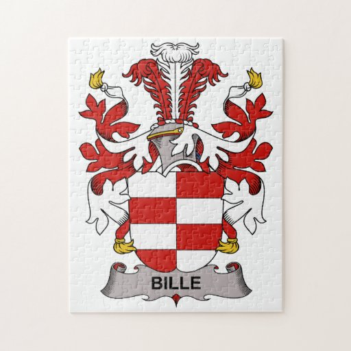 Bille Family Crest Jigsaw Puzzle