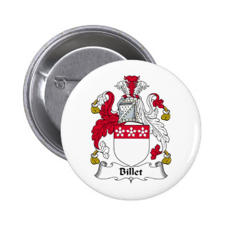 Billet Family Crest Pin Redondo 5 Cm