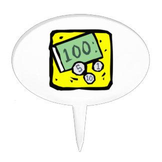 Billete de dólar 100 figura para tarta