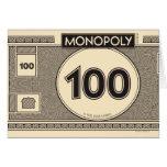 Billete de dólar 100 felicitación