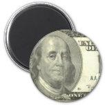 billete de dólar 100 imán de frigorifico