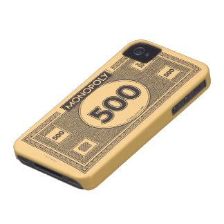 Billete de dólar 500 iPhone 4 Case-Mate protectores