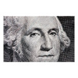 billete de dólar de George Washington Posters