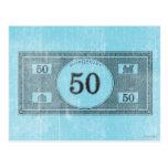 Billete de dólar del vintage 50 postales