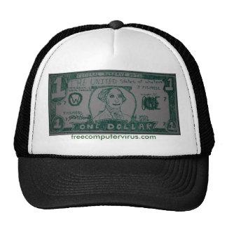 billete de dólar gorro