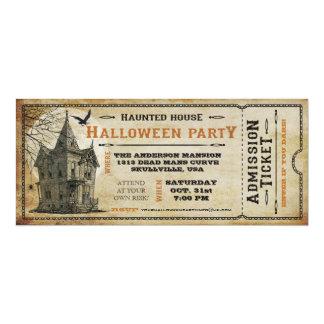 """Billete de grupo de Halloween de la casa encantada Invitación 4"""" X 9.25"""""""