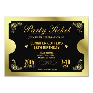 Billete de grupo de oro invitación