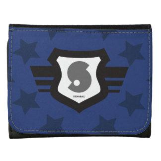 Billetera Escudo e Inicial Personal Estrellas