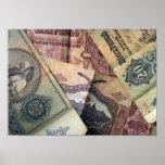 Billetes de banco del vintage poster